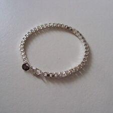 """Bracelet  plaqué argent sterling 925 rhodié, maille """"vénitienne"""", 19 cm, neuf"""