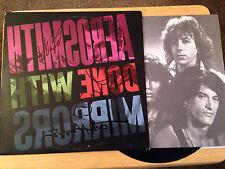 Aerosmith Signed Done with Mirrors LP Record Album Cover COA Joe Perry Hamilton