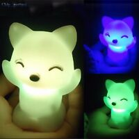 Cute Fox LED Night Light 7 Color Changing LightS Home Christmas Decoration 1pc