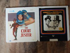 Vintage CED Videodisc LOT-The Court Jester,Africa Screams Abbott & Costello-RARE