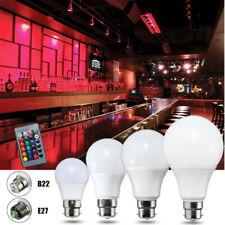 E27/B22 5/10/20W RGB Colour Changing LED Light Lamp Bulb Remote Control  R
