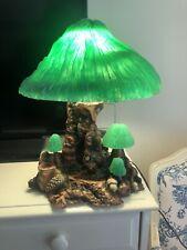 Vintage Coral Mushroom Lamp Magic Mushroom Lamp Co #320 Oregon 14 x 11 Green
