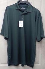Paragon Short Sleeve Polo Shirt Mens XL Extra-Large Gray UPF 30+ Sunscreen
