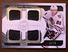 2011/12 PATRICK KANE UD THE CUP FOUNDATIONS QUAD GAME USED JERSEY / 25