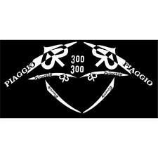 SET 8 ADESIVI BIANCO PIAGGIO BEVERLY 300 IE '10 KIT GRAFICA CARENA DECALS 70X70