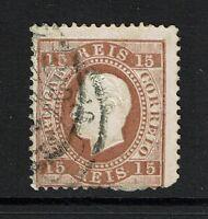 Portugal SC# 38, Used, Hinge Remnant, Close Perfs - Lot 072317