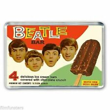 RETRO 60's NOSTALGIA 'THE BEATLES' ICE CREAM BAR ADVERT - JUMBO FRIDGE MAGNET