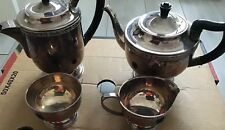 Vintage Viners Of Sheffield 4 Piece Alpha Silver Plated Tea / coffee Set