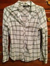 A.n.a Plaid Button Down Shirt, Sz Small
