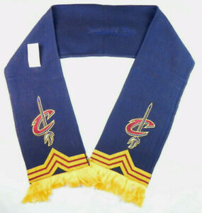 CLEVELAND CAVALIERS CAVS NBA MITCHELL & NESS WINTER KNIT SINGLE SIDED SCARF NWT!