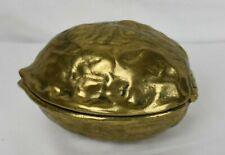 Mid-century solid brass walnut nutcracker