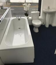 Cheap Bathroom Suite 1700x700mm Bath + Panel, Toilet, Basin, Mixer Taps & Wastes