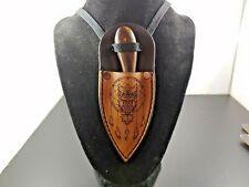 OWL DREAM CATCHER POWWOW Patch knife Skinner hunting Neck Knife sheath BUSHCRAFT