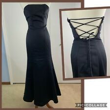 Windsor Black Backless Formal Prom Dress - Size 1/2