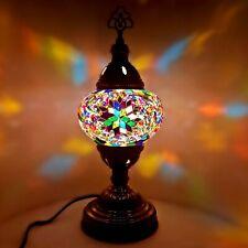 Turkish Coloré Lampe Lumière Authentique Style Tiffany Verre Bureau Table Ce +