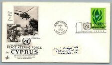 United Nations 1965 FDC First Day of Issue 11 cent Peace Keeping Force in Cyprus