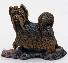 Tin Pewter Figurine of Yorkshire Terrier Dog IronWork