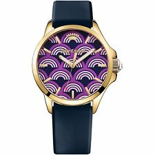 Juicy Couture Womens Jetsetter Quartz Casual Watch, Purple Rainbow-Model 1901389