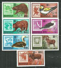 MONGOLIA 1019-25 MNH CAPEX 78, ANIMALS