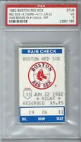 1982 WADE BOGGS BASEBALL TICKET STUB- HIS FIRST CAREER HOME RUN RED SOX PSA 3
