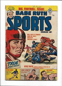BABE RUTH SPORTS #10 [1950 PR] BIG FOOTBALL ISSUE!