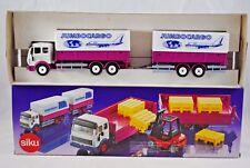 SIKU 3515 MERCEDES BENZ Truck & Drag Trailer w/ TILT in JUMBOCARGO Livery MIB