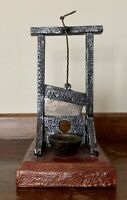 "Vintage French Guillotine Cast Iron Souvenir / Novelty / Paperweight 4""w 5.25""h"