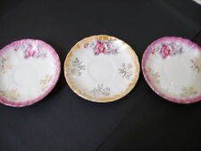 Lustre Edged Small Saucers x 3 Made in Japan