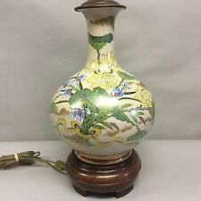 Japanese Style Lamp Hand Painted Cloisonne Style  Painting 21""