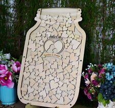 Custom Mason Jar Drop Top Guestbook Personalized Wedding Guest Book Alternative