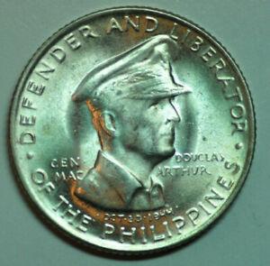 mw11897 Philippines; Silver 50 Centavos 1947-S MacArthur  KM#184  UNC