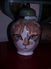 Custom SMALL Pet urn for CAT urn ash orange white Cats cremation jar memorial