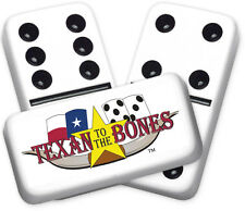 Texana Series Texan to the Bones Design Double six Professional size Dominoes