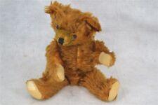 bear mohair teddy stuffed bear 14 in. jointed brown rust  original antique
