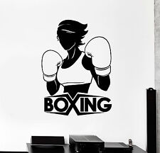 Vinyl Wall Decal Boxing Girl Boxer Sports Woman Stickers Mural (ig4546)