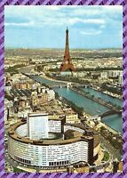 Carte Postale - Paris - La Maison de la radio, la seine et la tour eiffel