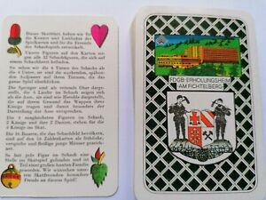 Kartenspiel, Skatspiel DDR. FDGB-ERHOLUNGSHEIM Am Fichtelberg.