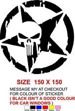 bumper sticker  STAR SKULL