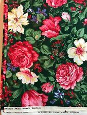 VIP CRANSTON RED PINK green cotton Holiday Christmas Companion Fabric BTHY