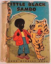 Little Black Sambo Rand McNally 1954 RARE Edition Gingerbread Man Titty Mouse