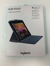 "Logitech iPad 9.7"" Slim Folio Bluetooth Keyboard Case for iPad 5th 6th Gen"