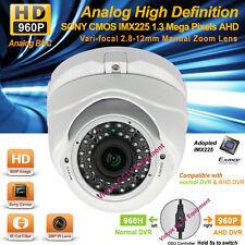 Analog HD 1.3MP SONY CMOS AHD 960P Night Vision Vandalproof CCTV Security Camera