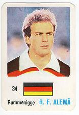 Football World Cup 1986 Portugese Pocket Calendar Karl-Heinz Rummenigge Germany