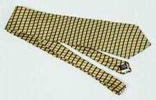 Neo by Bill Blass Yellow Gold Striped Patterned Silk Tie