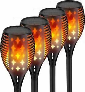 Nekteck Outdoor Solar Torch Lights with Star Design 4-Pack