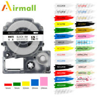 SS12KW Compatible for EPSON LW-300 LW-400 LC-4WBN9 6/9/12/18mm Label Maker Tape