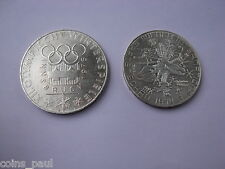 AUSTRIA   100 SHILLINGS 1976 OLYMPIC COIN 1974  50 SHILLING SILVER AU UNC