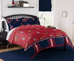 St. Louis Cardinals MLB Rotary Queen Bed in a Bag Set