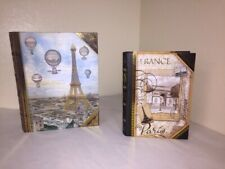 Large & Medium Nesting Book Set Paris Decor Punch Studio