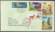 6261 - CHILE 1987 EASTER ISLAND ON COVER VINA DEL MAR TO ARVADA CO